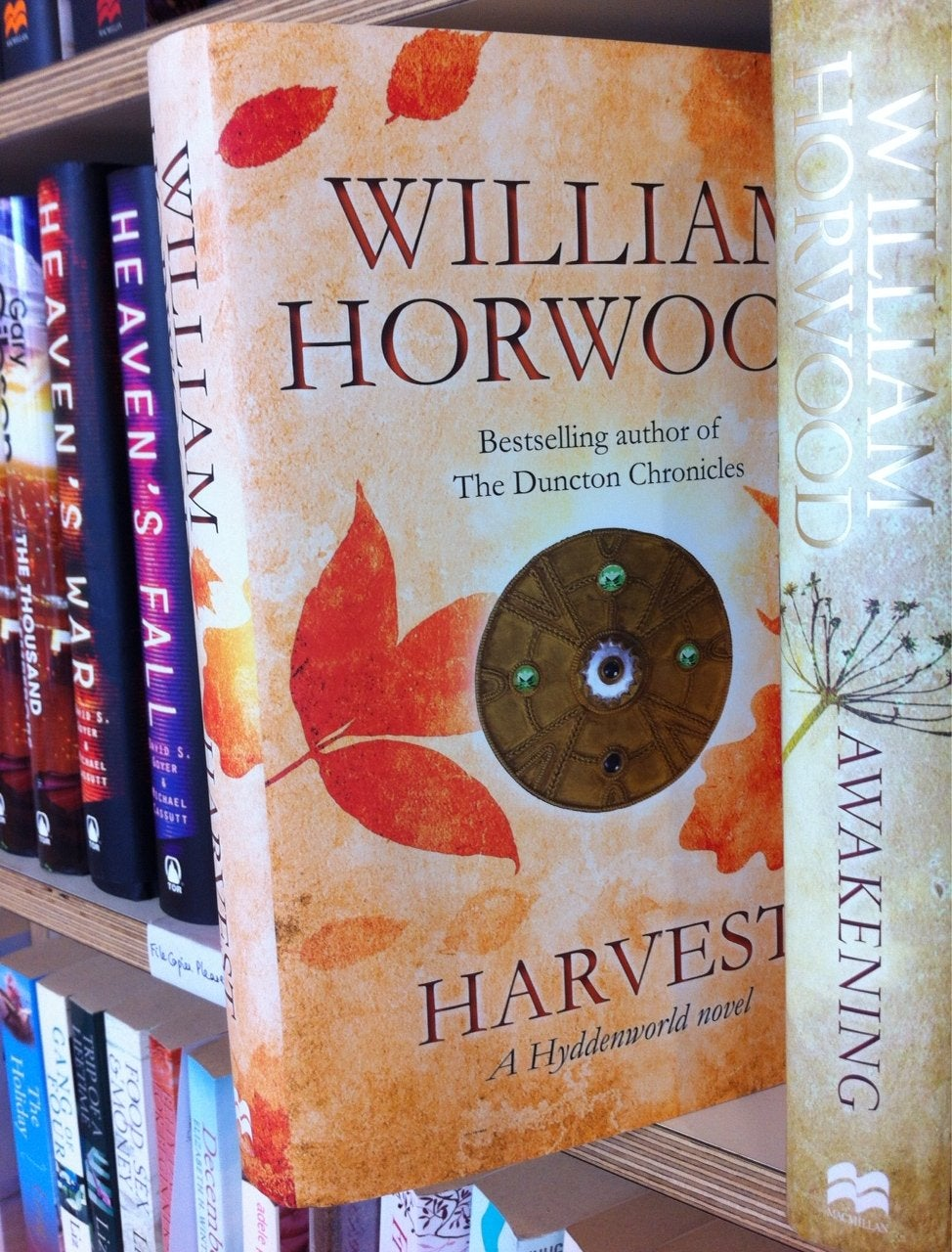 example of gold foil on the cover of Harvest